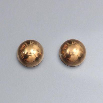 Paire de boucles d'oreilles en or jaune 750°/00...