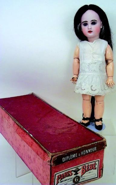 Bébé JUMEAU, période SFBJ, (circa 1900) tête en biscuit coulé, bouche ouverte, yeux...