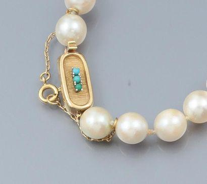 Collier de perles de culture diamètre 8.5/9mm...