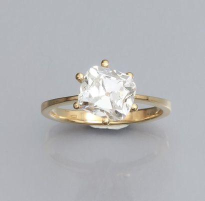 Diamant coussin de 2.25 carat, certificat...