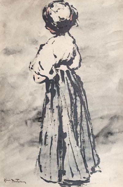 Abel BERTRAM (1871-1954)  Femme debout vu...