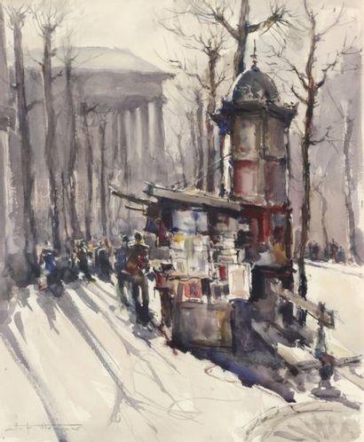 Hermann Edouard WAGNER (1894-1963)  Le bouqiniste...