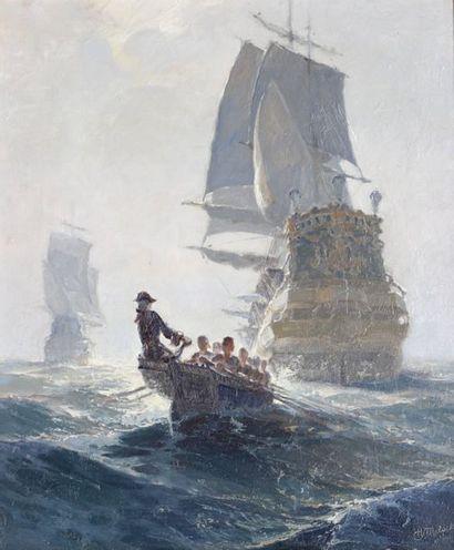 HENRI MILOCH (1898-1979) attribué à  Marin...