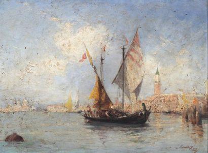 Louis Claude MOUCHOT (1830-1891)  Voiliers...
