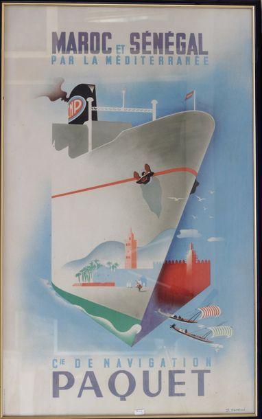 Affiches de la compagnie de navigation PAQUET...
