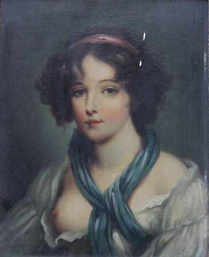 ECOLE FRANCAISE FIN DU XIXe SIECLE  Portrait...