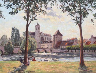 Jean-Claude DUTEIL (1950) Contre - jour à...