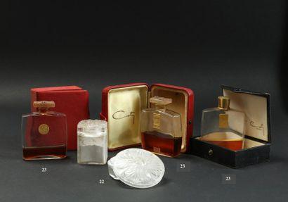 Coty - (années 1930)  Lot comprenant 2 flacons...
