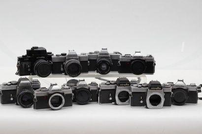 MINOLTA. Ensemble de dix appareils. Trois...