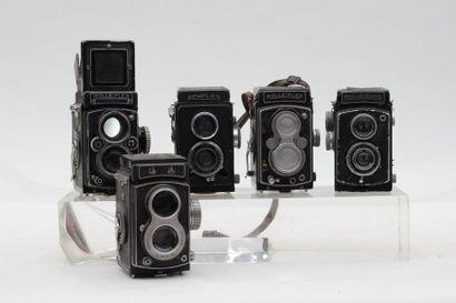BI-OBJECTIF. Ensemble de cinq appareils....