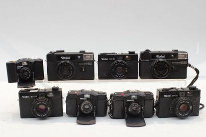 ROLLEI et MINOX, ensemble de huit appareils....