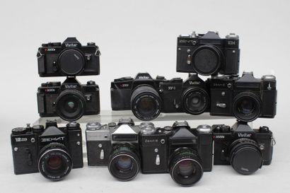VIVITAR et ZENIT, ensemble de dix appareils...