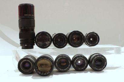 CANON, ensemble de dix objectifs : deux Canon...