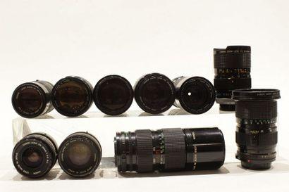 CANON, ensemble de dix objectifs : un Canon...