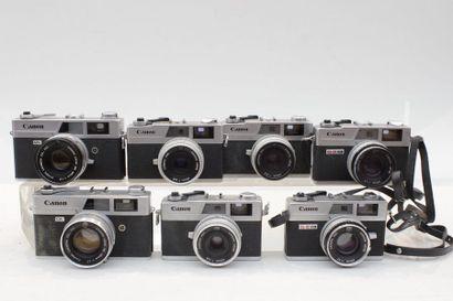 CANON, ensemble de sept appareils. Trois...