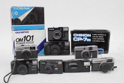 CANON, OLYMPUS, CHINON et COSINA, ensemble de onze appareils : boitier Olympus OM...