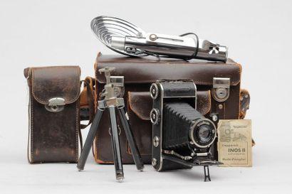 SOUFFLETS FOLDINGS, ensemble appareil photographique et accessoires : Soufflet Inos...