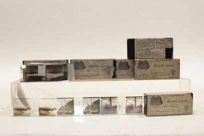 Photographies. Six boites plaques (principalement...
