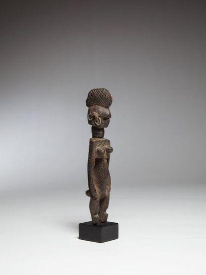 MINIANKA, Mali  Statuette féminine à profonde...