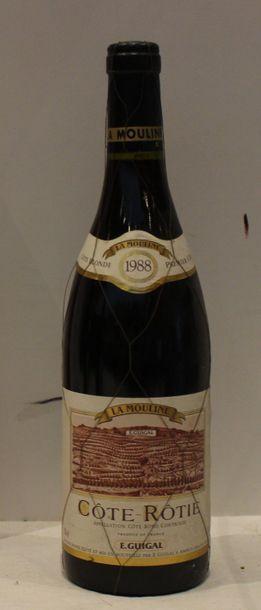 1 bout COTE ROTIE LA MOULINE GUIGAL 1988...