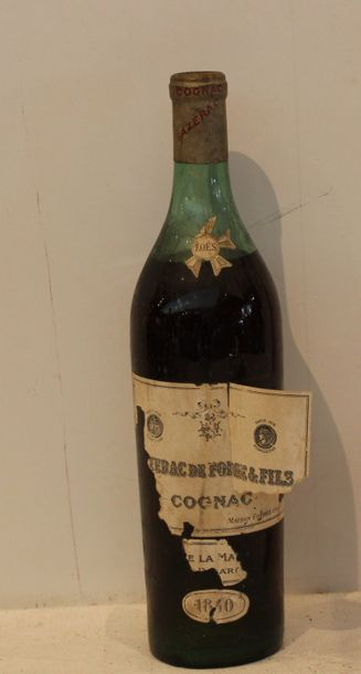 1 bout COGNAC SAZERAC DE FORGE 1840 (5 cm,...