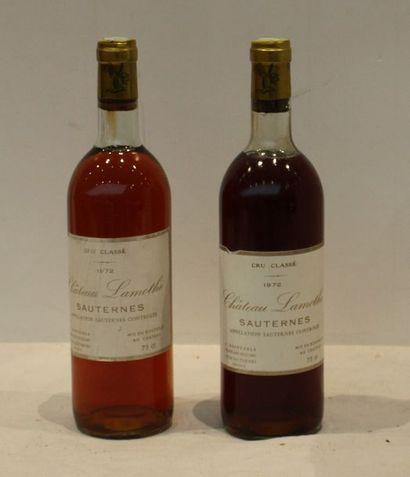 2 bout CHT LAMOTHE 1972 (Sauternes NTLB)