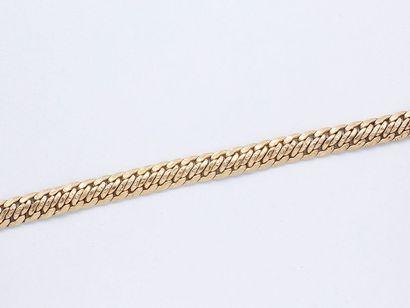 Bracelet souple en or 750 millièmes, maille...