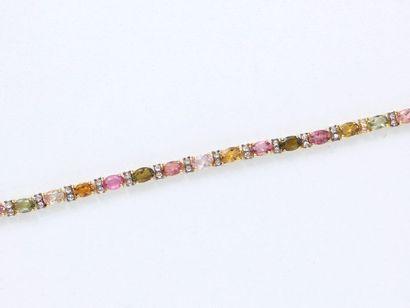 Bracelet articulé en vermeil 800 millièmes...