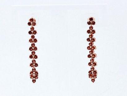 Paire de pendants d'oreilles en vermeil 800...
