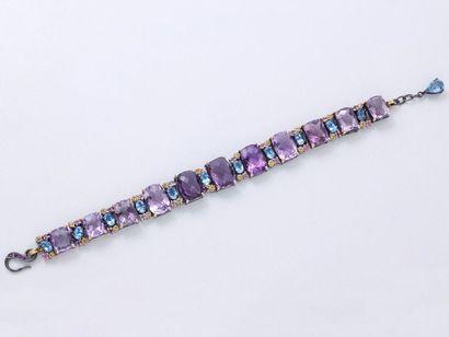 Bracelet articulé en argent 800 millièmes...
