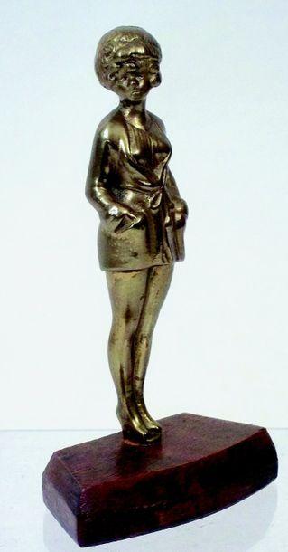 Figure en régule dorée de 15,5 cm, imitation...