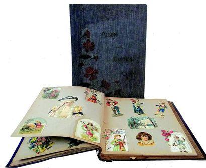 Album en cartonnage avec de nombreuses chromolithographies...
