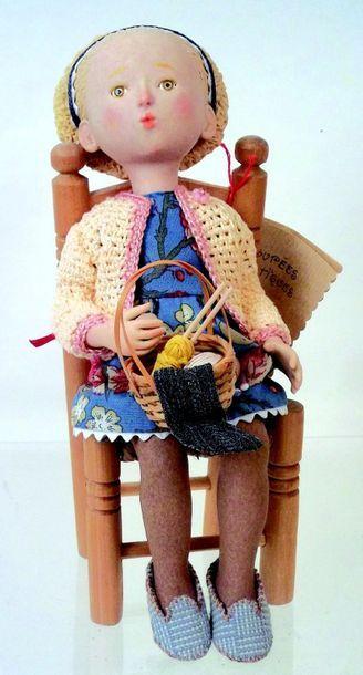 «Gretel» H 30 cm (création de 1999) par Véronique...