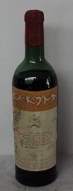 1 bout CHT MOUTON ROTHSCHILD 1965 (Mi ép...