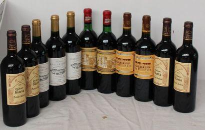 11 bout 4 CHT GLORIA 2010, 2 LA CROIX DE BEAUCAILLOU 2005, 2 CHT DUCRU BEAUCAILLOU...