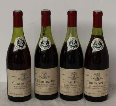 4 bout CHAMBERTIN LOUIS LATOUR 1971 (2 à...