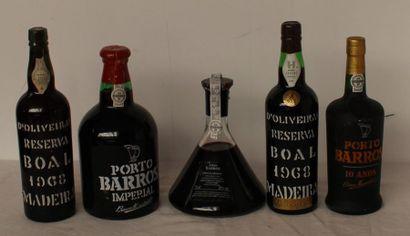 5 flac 2 MADERE BOAL 1968, 1 PORTO BAROS...