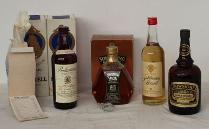 6 flac 1 BOUT WHISKYES BALLANTINE 30 ans,...