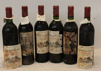 6 bout CHT TAILHAS POMEROL 1980 (1 ntlb,...