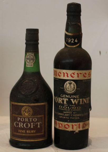 2 bout 1 PORTO MENERES 1924 (deb ep), 1 PORTO CROFT