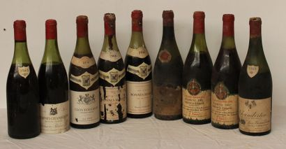 9 bout BOURGOGNES DIVERS : 1 CHARMES CHAMBERTIN...