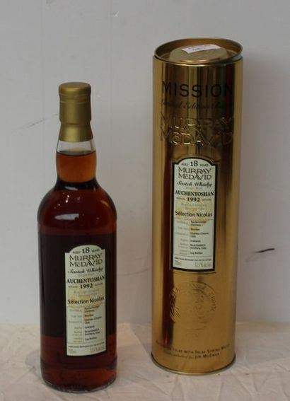 1 bout WHISKY AUCHEN TOSHAN 18 ANS