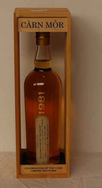 1 bout WHISKY CARN MOR 54° 1981