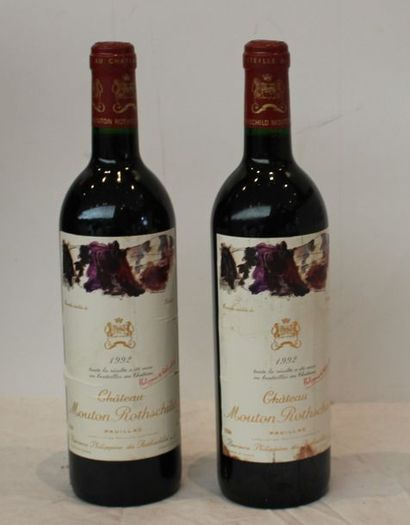 2 bout CHT MOUTON ROTHSCHILD 1992