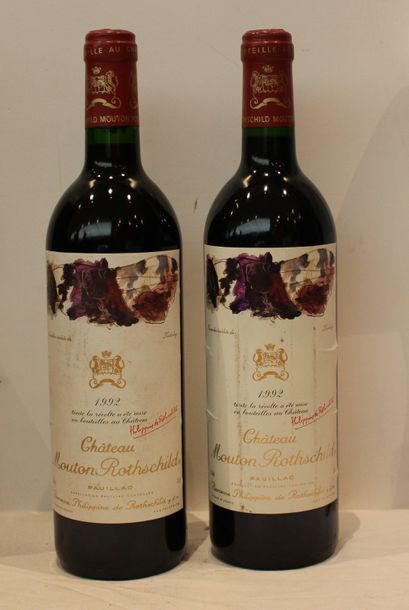 2 BOUT MOUTON ROTHSCHILD 1992