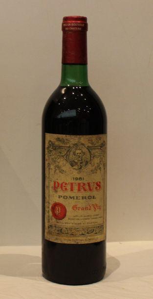 1 bout CHT PETRUS 1981 ( NLB, etiq pass...
