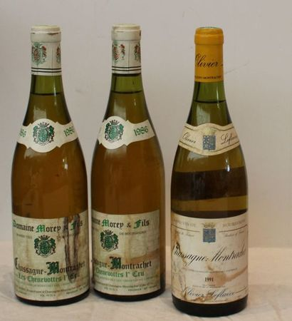 3 BOUT : 1 CHASSAGNE LEFLAIVE 1991, 2 CHASSAGNE...