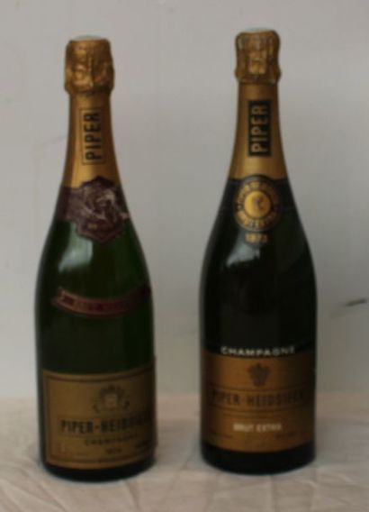 2 bout 1 CHAMPAGNE PIPER HEIDSIECK 1975...