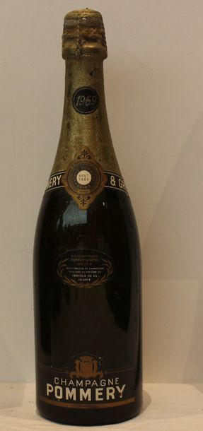 1 bout CHAMPAGNE POMMERY 1969