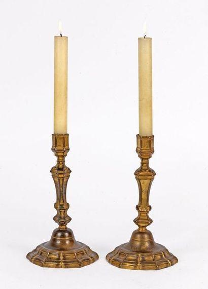 Paire de chandeliers de style Louis XIV en...